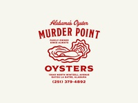 Alabama's Oyster typography illustration alabama water coast seafood oyster