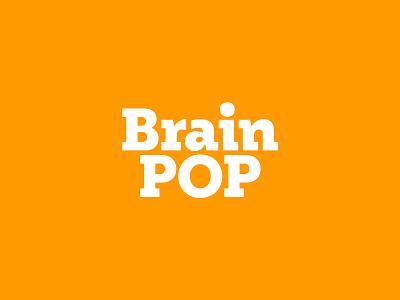 BrainPOP lettering type typography branding logo