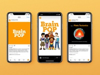 BrainPOP Continued design type josh carnley typography texture alabama branding illustration logo