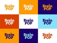 BrainPOP Color System blue purple orange typography design type lettering branding logo
