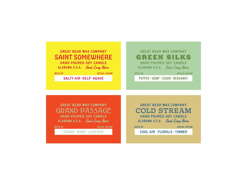 GBWC - New Scents & Labels josh carnley design lettering alabama typography branding illustration logo