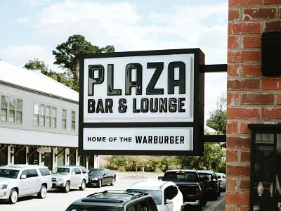 Plaza Bar & Lounge vintage signage logodesign alabama plaza