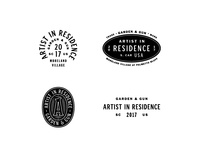 Artist In Residence - Logo Options 1