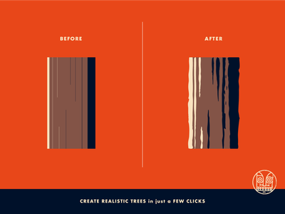 Wood Carving - Before and After tiki tropical outdoors grunge vector brushes texture wood
