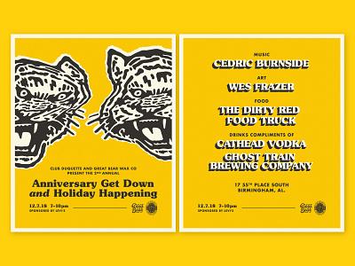GBWC x CD warp music tiger poster