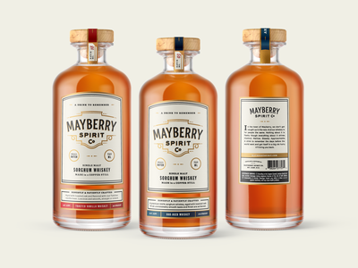 Mayberry Spirit Co. packaging