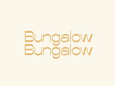 Bungalow Bungalow logotype lettering branding alabama birmingham contrast modern reverse contrast apothecary logo