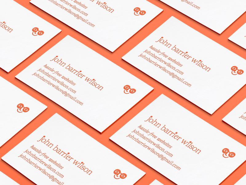 John Barrier Wilson - Cards business cards design letterpress glasses red business cards stationery logo business cards