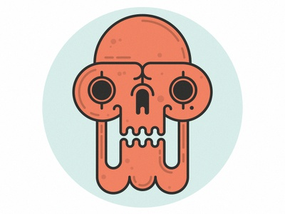 Monkey skull illustration vector skull monkey ugly