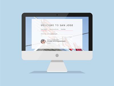 Hello San Jose! illustration mac ui web