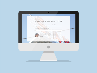 Hello San Jose! illustration mac ui web