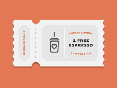 Coffee Lovers illustration coffee coupon