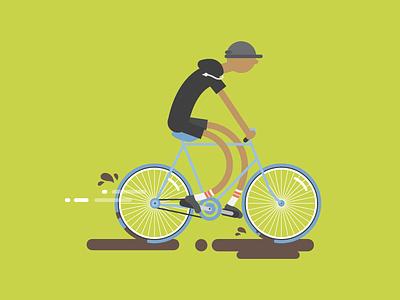 Noodle kid bike vector illustration noodle slurp