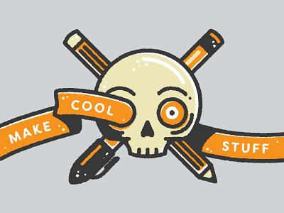 Adobe MAX Snapchat geofilter, Day 2 spooky orange flat texture snapchat adobe illustrator vector skull