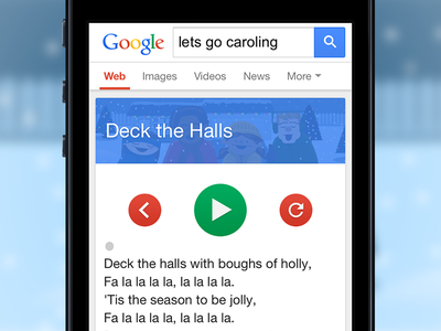 Let's Go Caroling google easter egg caroling holidays christmas singing