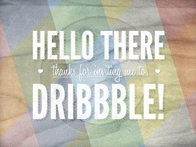 Hello Dribbble! first shot dribbble wood