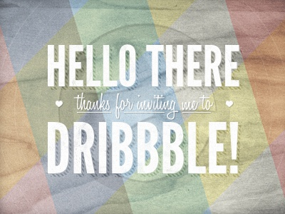 Hello Dribbble! first shot dribbble wood