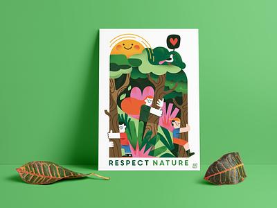 Respect nature color characterdesign design art drawing digital characters fonzynils illustrator illustration