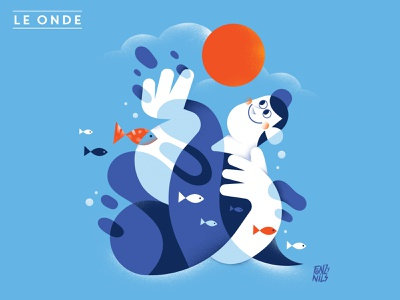 L e Onde editorial design character digital drawing magazine characters illustrator fonzynils illustration