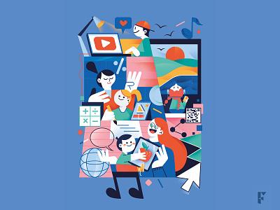 Cover Uppa Magazine color digital characterdesign editorial design magazine drawing fonzynils illustrator illustration