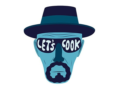 Let's Cook creative art serie breakingbad heisenberg magazine visual drawing illustration characters fonzynils