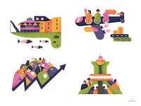 Skylife Magazine_Spot illustrations