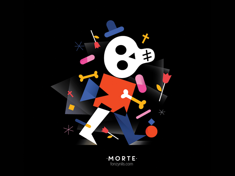 Morte design graphic editorial characters illustrator illustration fonzynils