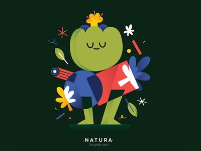 Natura illustrator illustration graphic fonzynils editorial design characters