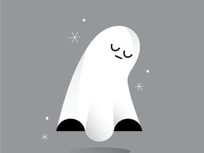 Sad Ghost stickers art design characterdesign mood illustration ghost character fonzynils