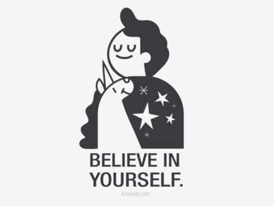 Believe in yourself characterdesign vectors drawing icons fonzynilsnotes design illustration art minimal fonzynils