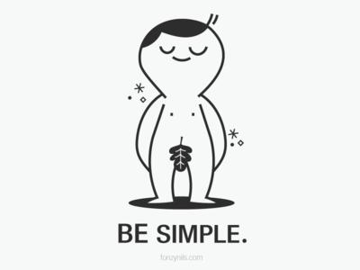 Be Simple vectors digitalart sharing message fonzynilsnotes design minimal illustration illustrator fonzynils