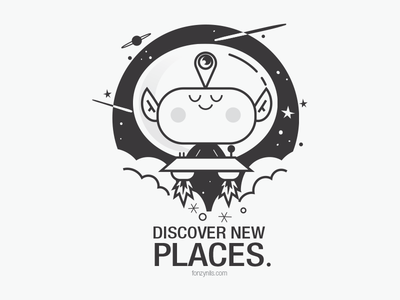 Discover New Places fonzynilsnotes discover travel space alien design characterdesign drawing vectorial digitaldrawing illustrator illustration fonzynils