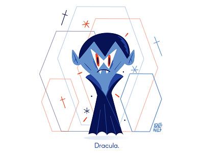 Dracula flat visual design emoticon emoji characterdesign vampire dracula illustration fonzynils