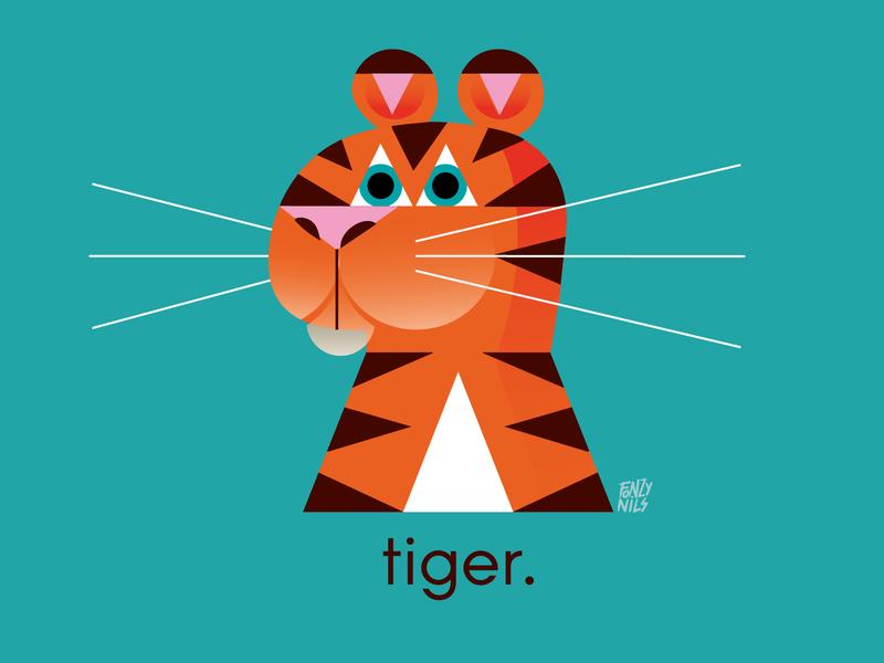 Tiger spot illustration animals colors design tiger characterdesign illustration fonzynils