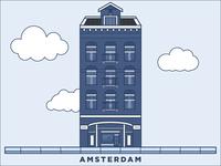 Amsterdam Building Illustration