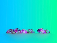 3D Diamond Render