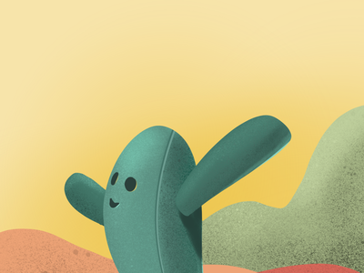 Hello cactus cactus illustration illustration procreate