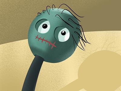 Sticky Man fear character ipad procreate illustration