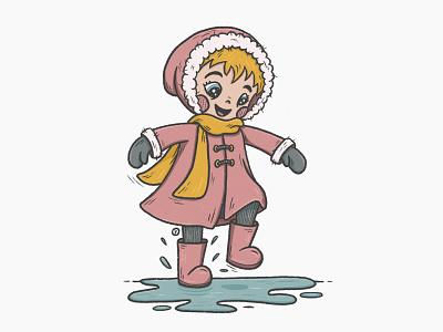 Zoë playtime toddler fun procreate girl character design illustration play