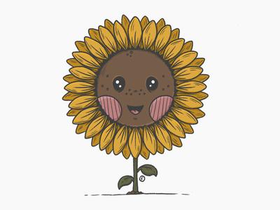 Sunflower sunflower procreate character design illustration