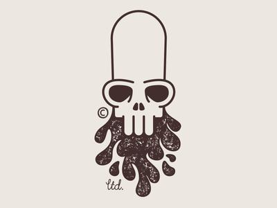 Mud Beer Logo beer mud beard skull illustration design logo