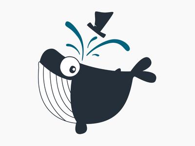 Meneer Walvis Logo character design meneerwalvis whale illustration design logo