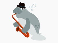 Herb the saxophone-playing manatee