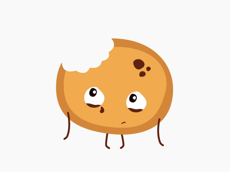 Sad cookie sad cookie character design illustration