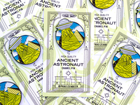Ancient Astronaut Enamel Pin