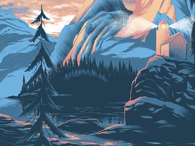 Gig Poster for Ray LaMontagne concert poster gig poster ray lamontagne water island texture national park poster illustration