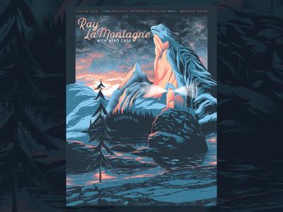 Ray Lamontagne Poster screenprint print design gigposter poster type texture illustration