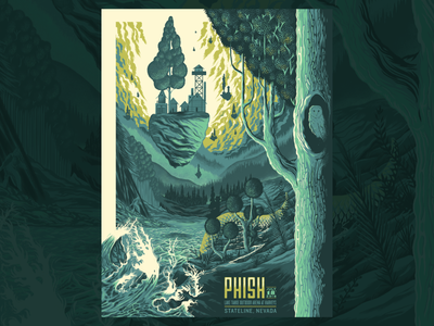 Phish Gig Poster water screenprint print type design gigposter typography poster texture illustration