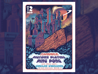 Twiddle, Pigeons Playing Ping Pong Red Rocks Gigposter