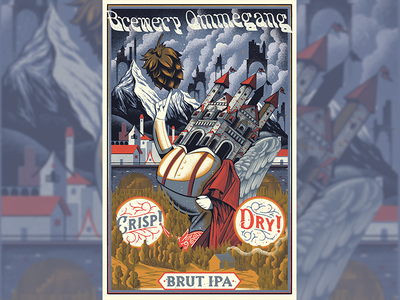 Poster for Brewery Ommegang texture poster illustration gigposter